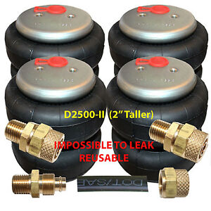 Air Ride Suspension 4 Denominator Ii 2500lb Air Bags 1 2 Npt For 1 2 Airlines