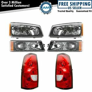 Headlight Parking Corner Light Tail Light Kit Set Of 6 For Chevy Pickup Truck
