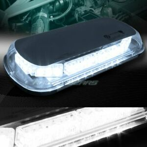 34 Led White Truck Emergency Roof Top Hazard Warn Flash Strobe Light Universal