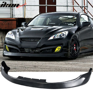Fits 10 12 Hyundai Genesis Coupe 2dr Ms Style Front Bumper Lip Urethane Pu