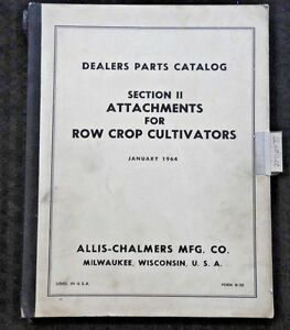 64 Allis Chalmers Wd Uc Wc 20 40 60 Tractor Cultivator Attachments Parts Manual