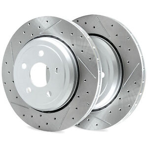 Rear R1 Carbon Drilled Slotted Brake Rotors Ford Focus 2012 2016