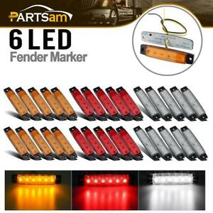 10amber 10red 10white 6led Bus Van Trailer Side Marker Indicators Lights Sealed