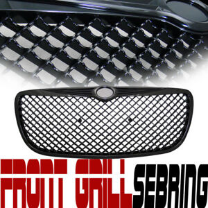 Black Bentley Mesh Front Hood Bumper Grill Grille Replacement For 04 06 Sebring