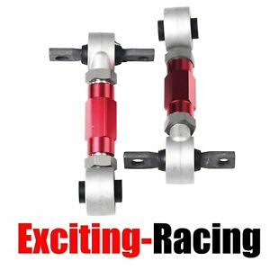 Suspension Rear Camber Adjustable Kit Powder Coated For Civic Integra Crx Red