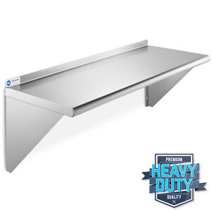 Stainless Steel Commercial Kitchen Wall Shelf Restaurant Shelving 18 X 48