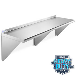 Stainless Steel Commercial Kitchen Wall Shelf Restaurant Shelving 18 X 60