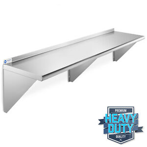 Stainless Steel Commercial Kitchen Wall Shelf Restaurant Shelving 14 X 60