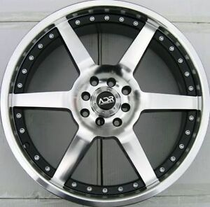 17x7 Adr Victory 4x100 114 3 40mm Black Machined Face Wheel 1 Rim Fits Civic