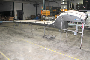 Intralox 28 X 12 Stainless Steel Table Top Plastic Chain Conveyor With Incline