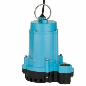 Little Giant 6ec cim 1 3 Hp Cast Iron Submersible Sump Pump W 20 Cord no