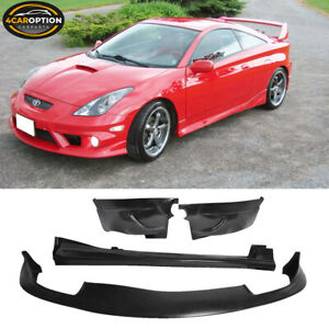 Fits 00 02 Toyota Celica J Style Front Rear Lip Side Skirt Bodykit Urethane