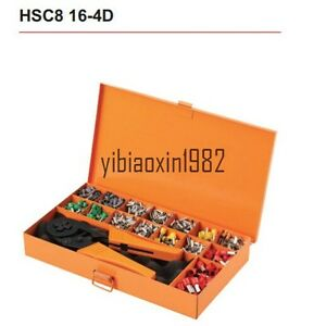 Hsc816 4d Crimping Tool Kits Combination Metal Box For Cable End Sleeves New
