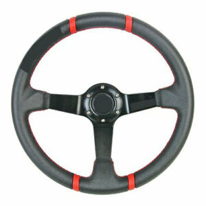 350mm Deep Dish Racing Steering Wheel Can Fits For Momo Sparco Ralliart Boss Kit