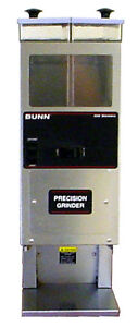 Bunn G92 S hd Short Dual Hopper Portion Control Coffee Bean Grinder 120v