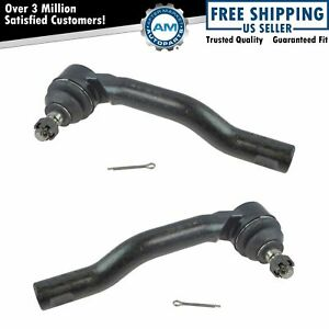 Front Outer Tie Rod Ends Lh Rh Kit Pair Set Of 2 For Edge Mkx Suv Truck New