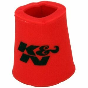 K N 25 0810 Air Filter Wrap Airforce Pre Cleaner Foam Red Conical Each