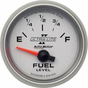 Autometer Fuel Gauge Gas New 4916