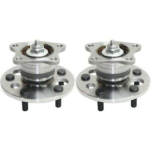 Set Of 2 Rear Wheel Hubs With Bearings Fits Toyota Camry Avalon Solara Non Abs