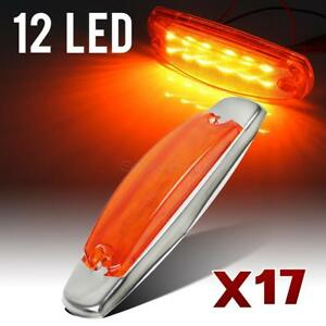 17x 6 2 Sealed 6 1 5 Led Side Marker Turn Lights 12 Led Peterbilt style Amber