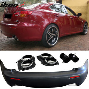 Fits 06 13 Lexus Is250 Is350 Isf Style Rear Bumper Conversion Dual Tip No Pdc