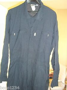 Fire Maintenance Coveralls Jumpsuit Dupont Nomex Iiia Navy Blue Uniform Size 48