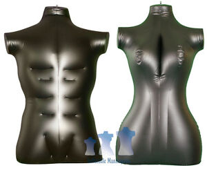 His Her Special Inflatable Mannequin Torso Forms Large Black