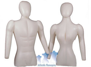 His Her Special Inflatable Mannequin Torso Forms With Head Arms Ivory