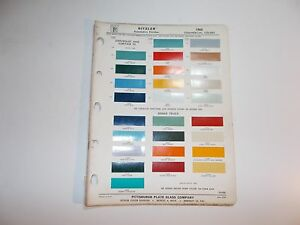 1964 Ditzler Paint Chip Samples Chevrolet Dodge Ford Gmc Studebaker Trucks