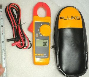 Fluke 323 True Rms Electricians Clamp Meter Unused With Zipper Case