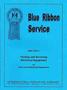 Intl Harvester Service Manual Test And Service Electrical Equipment Reprint