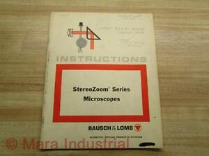 Bausch Lomb 312694 333nd Manual Stereo Zoom Series Microscopes
