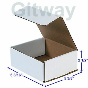 6 3 16 X 5 3 8 X 2 1 2 Small White Cardboard Packaging Mailing Shipping 50 Boxes