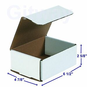6 1 2 X 4 7 8 X 2 5 8 Small White Cardboard Packaging Mailing Shipping 50 Boxes