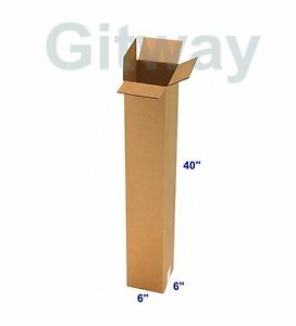 25 Pc 6x6x40 Tall Long Cardboard Shipping Golf Club Driver Pole Box Boxes 40x6x6