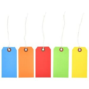 1000 Of 4 3 4 X 2 3 8 Size 5 Colored Inventory Shipping Hang Tags With String