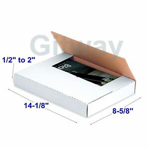 50 Set 14 1 8 X 8 5 8 X 2 Multi Depth Cardboard Book Mailer Shipping Box Boxes