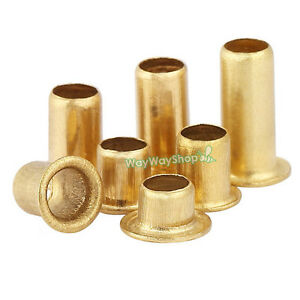 Brass Eyelet Rivets Crafting Finding Through Nuts Hole Hollow Grommets M3 M4 Diy