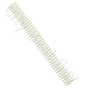 100 Male White 40 Round Pins Pcb Single Row 2 54mm Pitch Spacing Header Strip