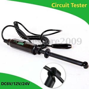 Auto Car Truck Voltage Circuit Tester 6v 12v 24v Dc Hook Probe Test Light Pencil