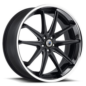 20 Asanti Abl 5 Black And Milled Wheels Rims And Tires Package 5x4 5 5 Lug