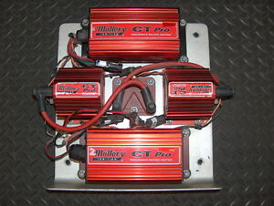 Mallory Ct Pro Dual Ignition Control Box Panel Tray 6864 W Coils Nascar Racing