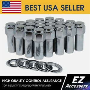 24 Pc Cragar Sst Mag Style Lug Nut 12x1 5 With Center Washer