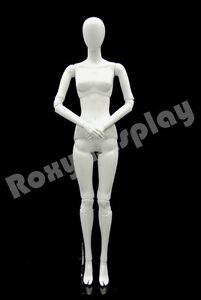 Fiberglass White Abstract Egg Head Mannequin Display Dress Form Mz abegw1