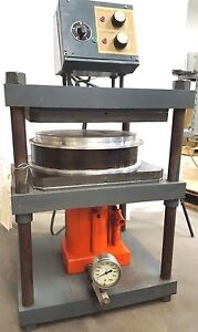 15 Inch Vulcanizer Makes Spin Casting Rubber Molds Hydraulic Press For Pewter