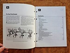 1972 John Deere Pa824 Pa840 Pa860 Pa884 Corn Bean Cotton Planting Planter Manual