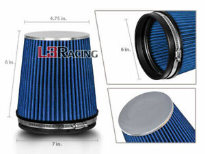 Blue 6 Inches 6 152mm Inlet Cold Air Intake Cone Truck Filter For Buick