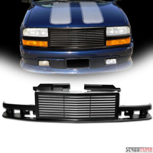 For 98 04 Chevy S10 Blazer Pickup Matte Blk Horizontal Billet Front Grill Grille