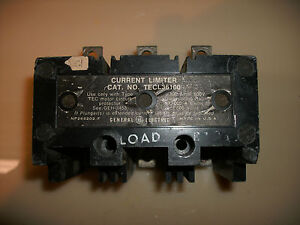 General Electric Current Limiter Tecl36100 100 Amp 3 Pole For Tec