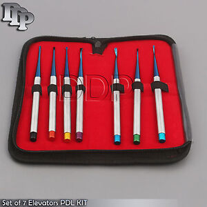 Set Of 7 Elevators Pdl Precise Tips Dental Surgical Veterinary Instruments